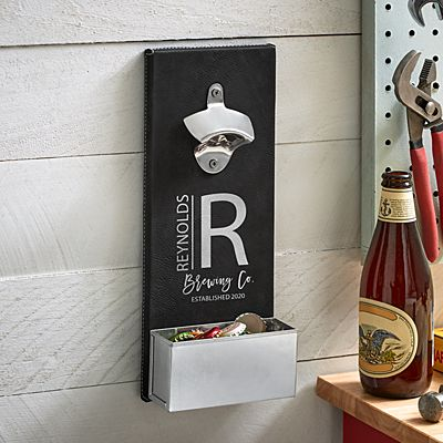 Modern Monogram Wall Bottle Opener
