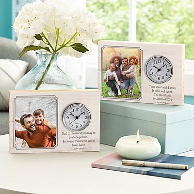 Photo Message Wood Clock