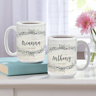 Simply Elegant 15oz Mug Set