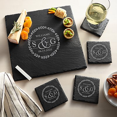 Sophisticated Couple Slate Entertaining 5pc Set