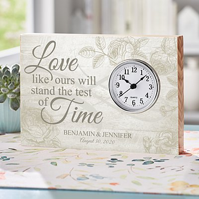 Test of Time Wedding Wood Clock