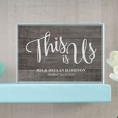 This is Us Wedding Glass Block