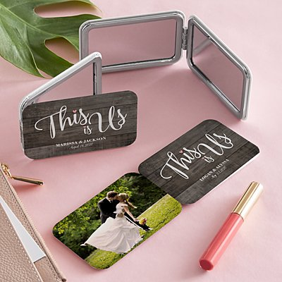 This is Us Wedding Photo Purse Mirror