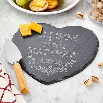 True Love Heart Slate Server
