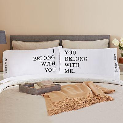 We Belong Together Pillowcase Set