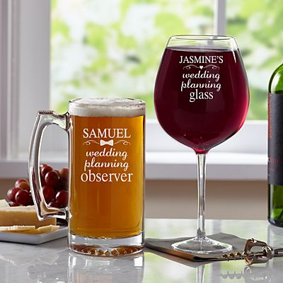 Wedding Planning Glassware Set
