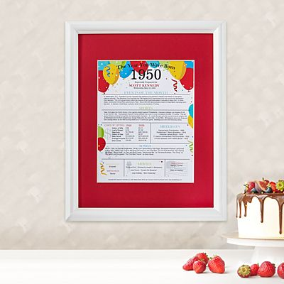 Year You Were Born Framed Print
