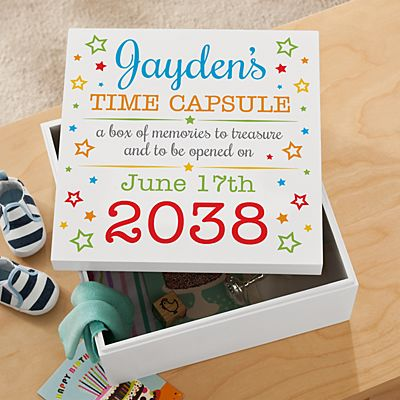 Precious Memories First Birthday Keepsake Box