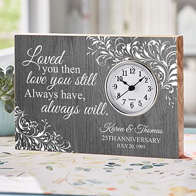 Love You Still Anniversary Wood Clock