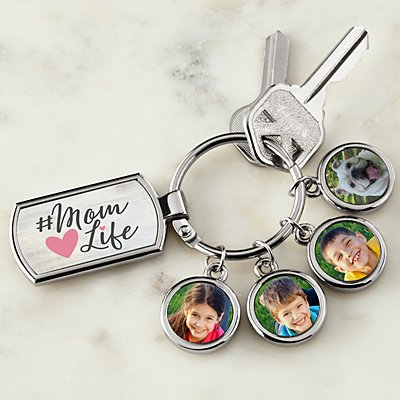 #Mom Life Photo Key Chain
