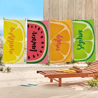 Fun Fruit Beach Towels