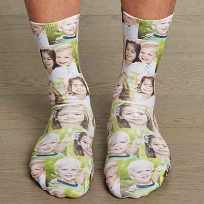 Picture Perfect Photo Collage Socks