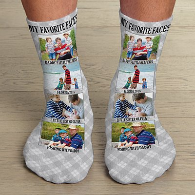 My Favorite Faces Photo Socks