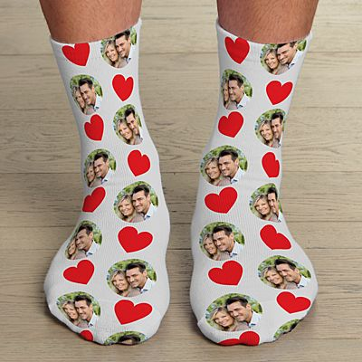 Love Rocks Photo Socks
