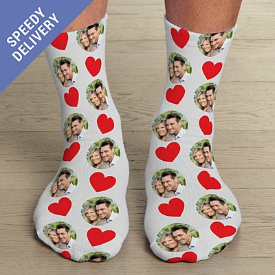 Love Rocks Photo Socks