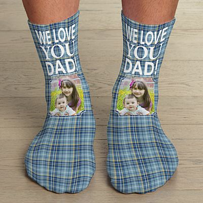 Rad Plaid Photo Socks