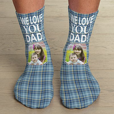 Plaid Photo Socks