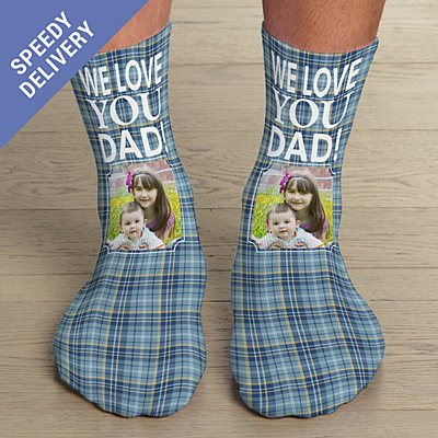 Plaid Photo Socks