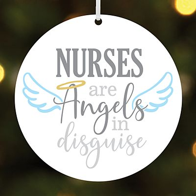 Angels in Disguise Round Ornament