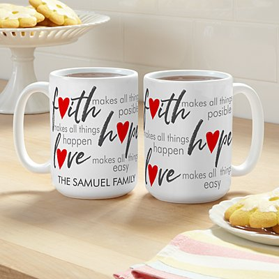Faith, Hope, Love 15oz Mug