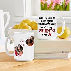 Miles Apart Social Distancing Photo Mug