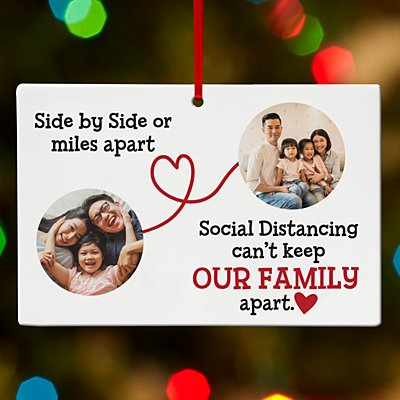 Miles Apart Social Distancing Photo Rectangle Ornament