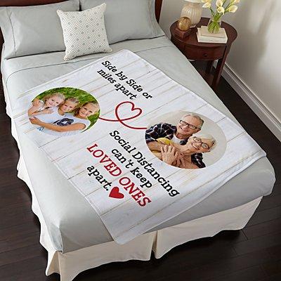 Miles Apart Social Distancing Photo Plush Blanket