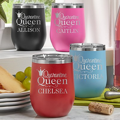 Quarantine Queen Wine Tumbler