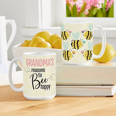 Reasons to Bee Happy 15oz Mug