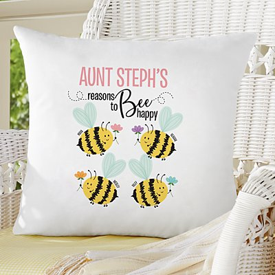 Reasons to Bee Happy Sofa Cushion