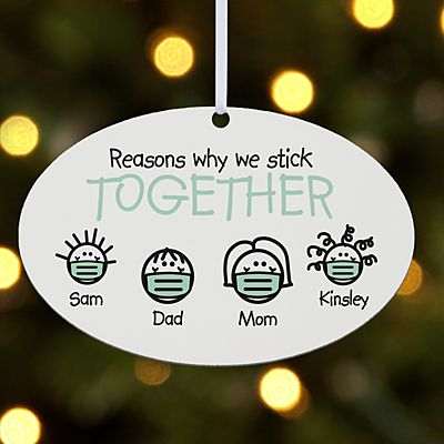 Reasons Why We Stick Together Oval Ornament