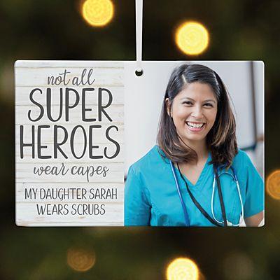 Super Hero Photo Rectangle Ornament