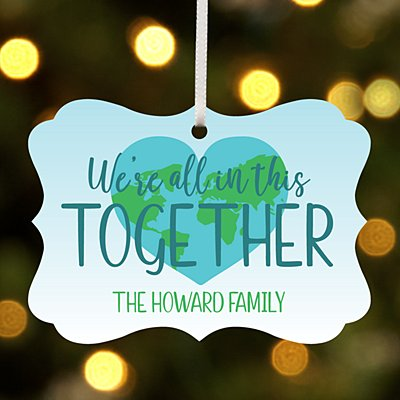 We're All in This Together Scroll Ornament