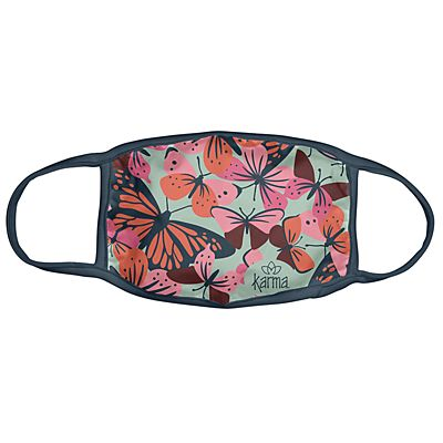 Karma® Allover Butterfly Print Adult 3 Pack Washable Facemasks