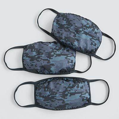 Karma® Allover Gray Camo Print Adult 3 Pack Washable Face Masks