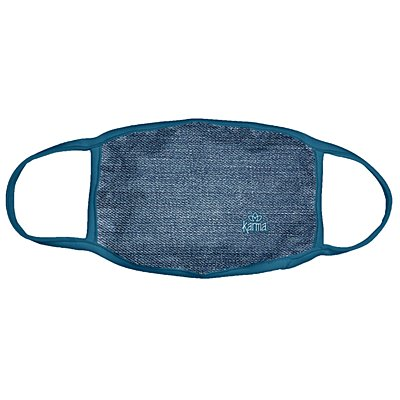 Karma® Allover Denim Print Adult 3 Pack Washable Facemasks