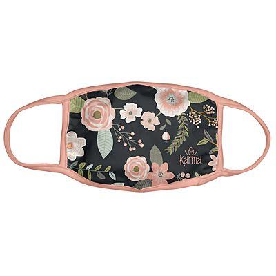 Karma® Allover Black Floral Print Adult 3 Pack Washable Facemasks