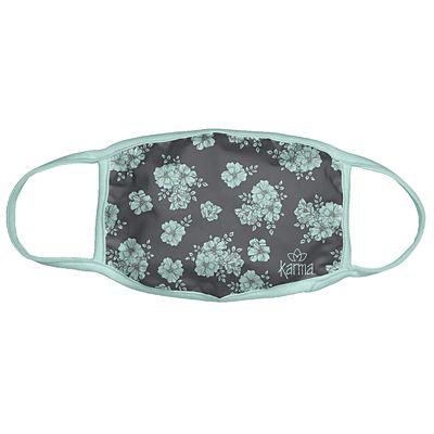 Karma® Allover Blue Floral Print Adult 3 Pack Washable Facemasks