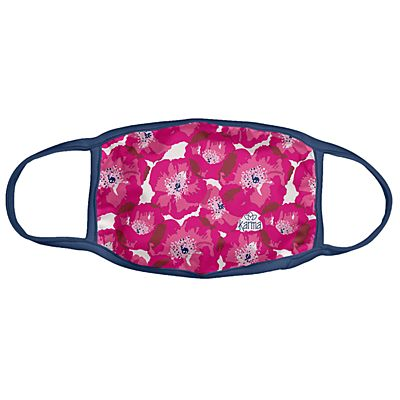Karma® Allover Pink Poppy Print Adult 3 Pack Washable Facemasks