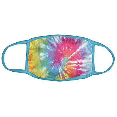 Karma® Allover Rainbow Tie Dye Print Adult 3 Pack Washable Facemasks
