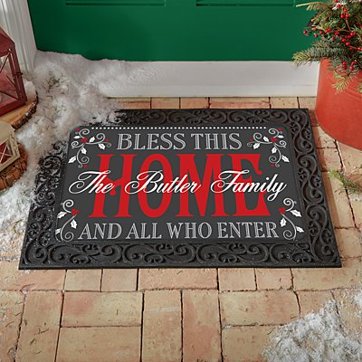 Christmas Bless This Home Doormat