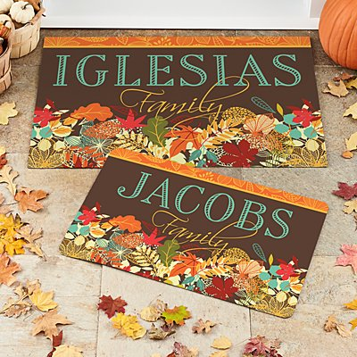 Colorful Fall Family Doormat