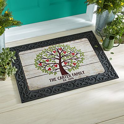 Family Tree of Hearts Doormat