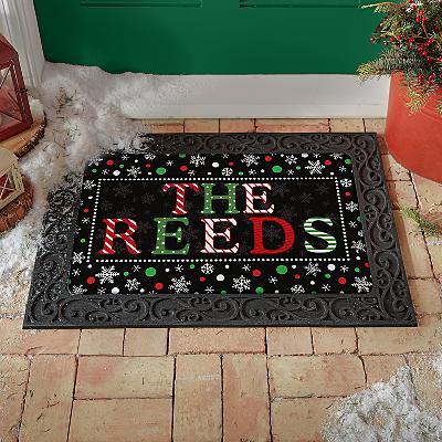 Festive Name Doormat