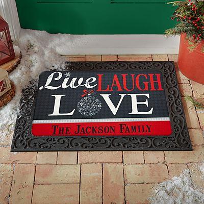 Live, Laugh, Love Holiday Doormat