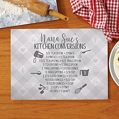 Her Kitchen Conversions Glass Cutting Board