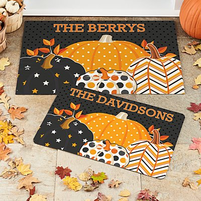 Pattern Pumpkin Doormat