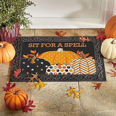 Pattern Pumpkin Doormat