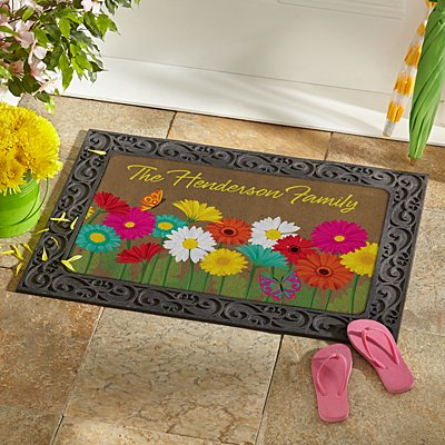 Spring Flowers Doormat
