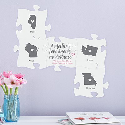 A Mother's Love Knows No Distance Mini Puzzle Piece Set